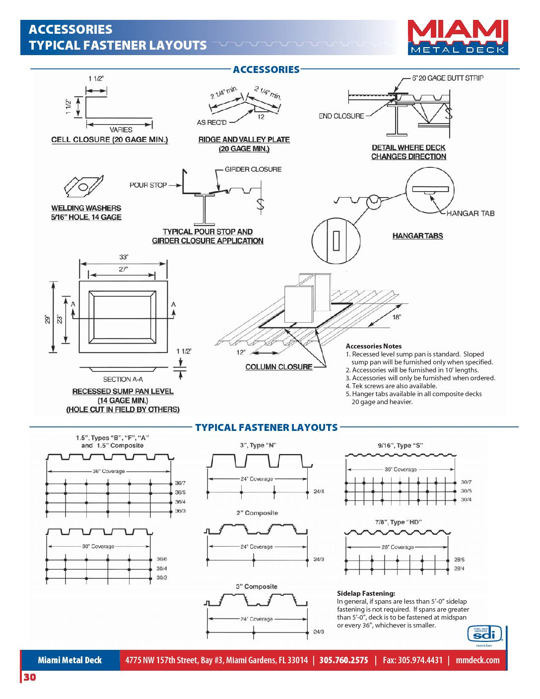 Decking Accessories and Fastener Layouts