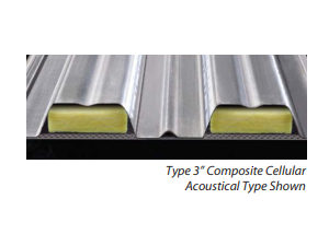 Type 3 Composite Cellular Acoustical Type Showing