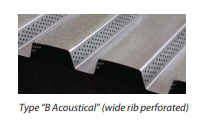 Type B Acoustical Wide Rib perforated