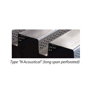 Type N Acoustical Long Span Perforated